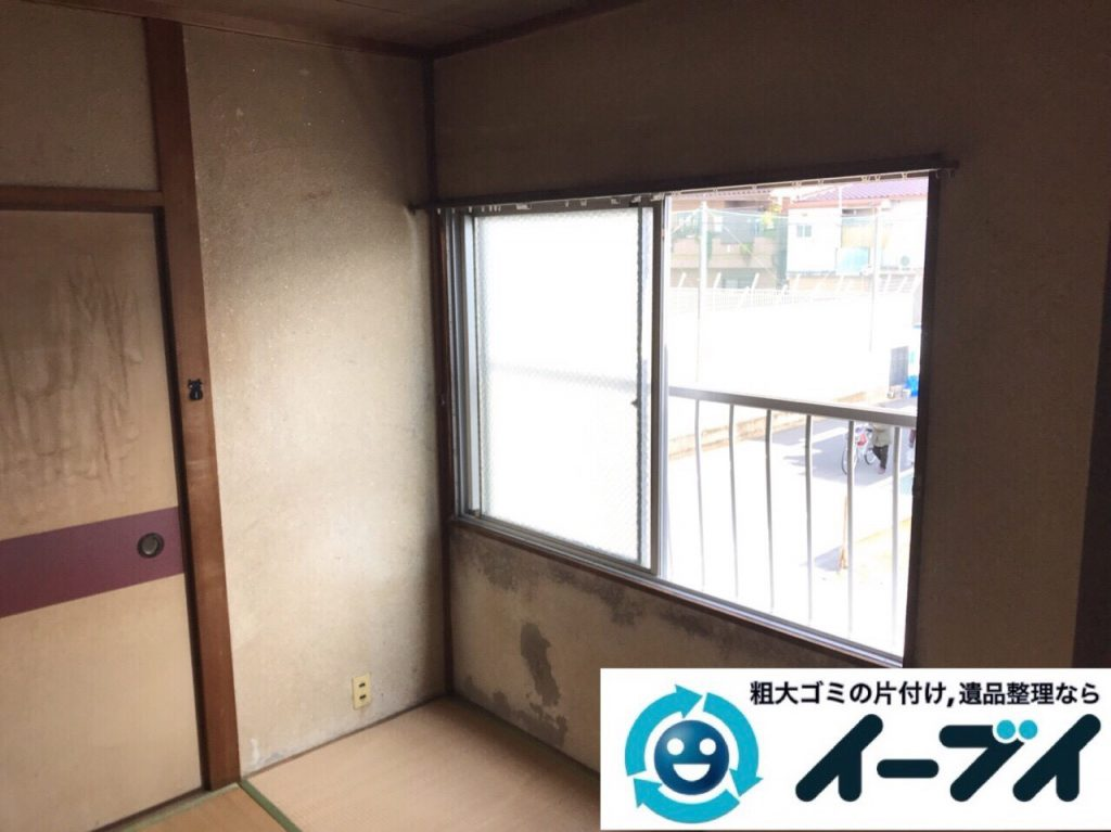 2018年6月15日大阪府大阪市淀川区で食器棚や食器、浴室の片付けで粗大ゴミの処分。写真2