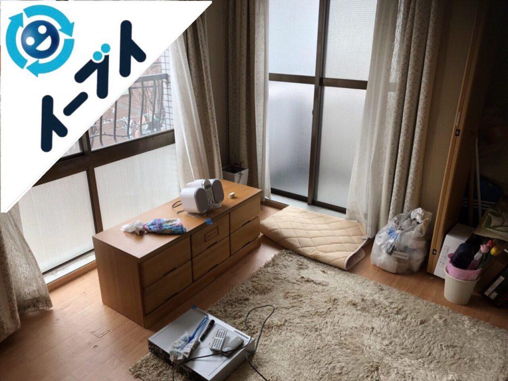 2018年6月10日大阪府豊中市で1人掛けソファーやテレビ台など粗大ゴミの不用品回収をしました。写真2