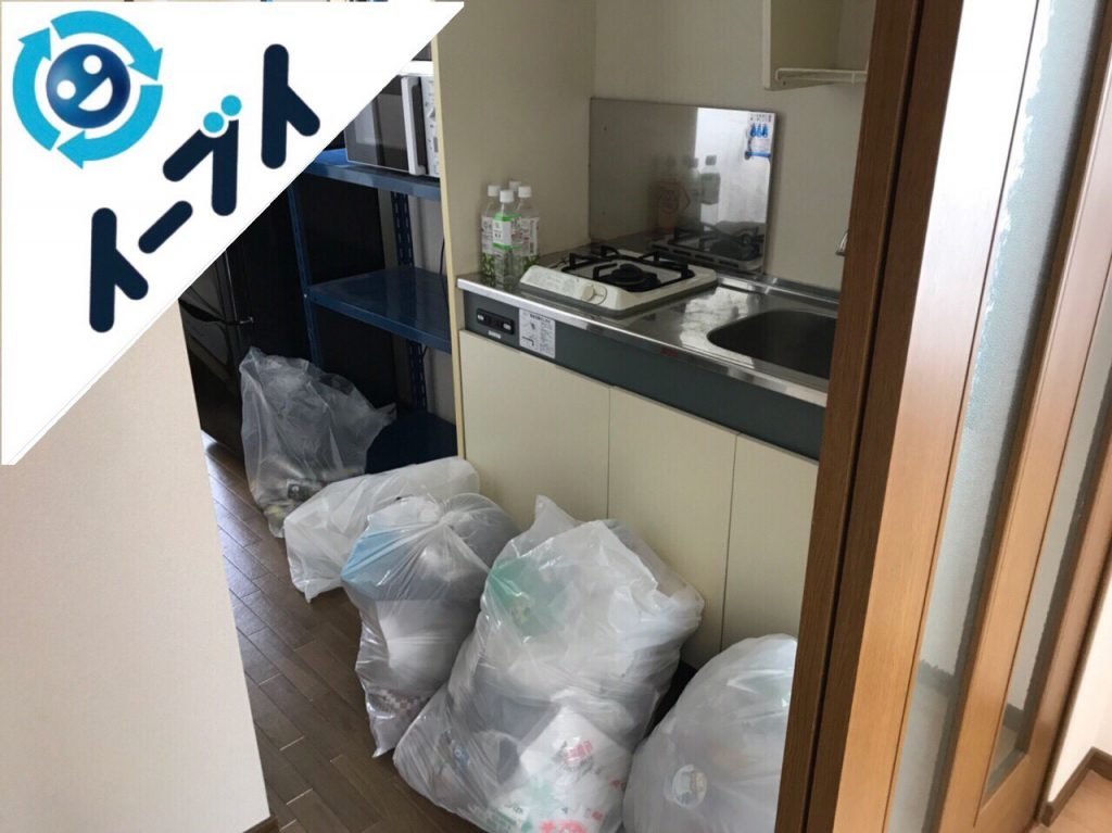 2018年6月18日大阪府摂津市で冷蔵庫や引越しゴミなど粗大ゴミの不用品回収をしました。写真2