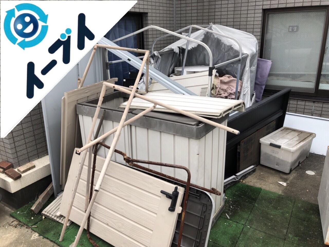 2018年6月7日【後編】大阪府吹田市でベランダのキャンプ用品や廃品の不用品回収。写真6
