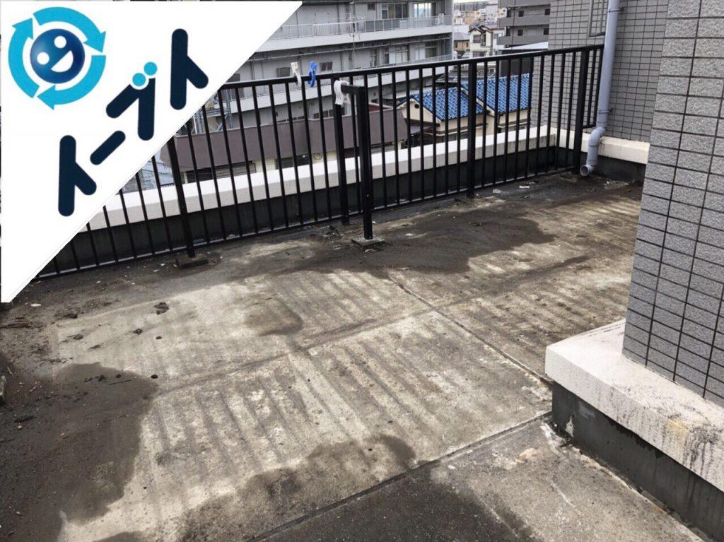 2018年6月6日【前編】大阪府吹田市でベランダのガーデニング用品の不用品回収写真1