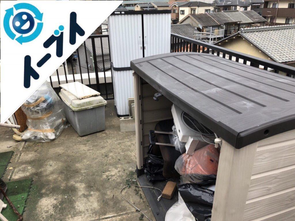 2018年6月7日【後編】大阪府吹田市でベランダのキャンプ用品や廃品の不用品回収。写真2
