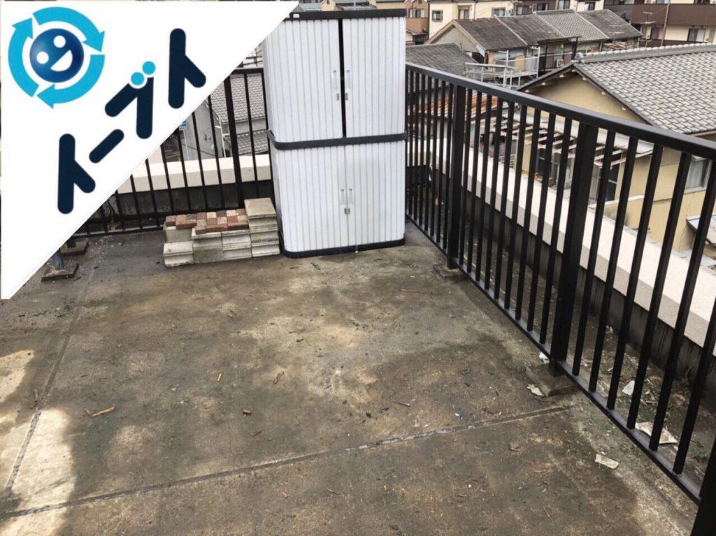 2018年6月7日【後編】大阪府吹田市でベランダのキャンプ用品や廃品の不用品回収。写真1
