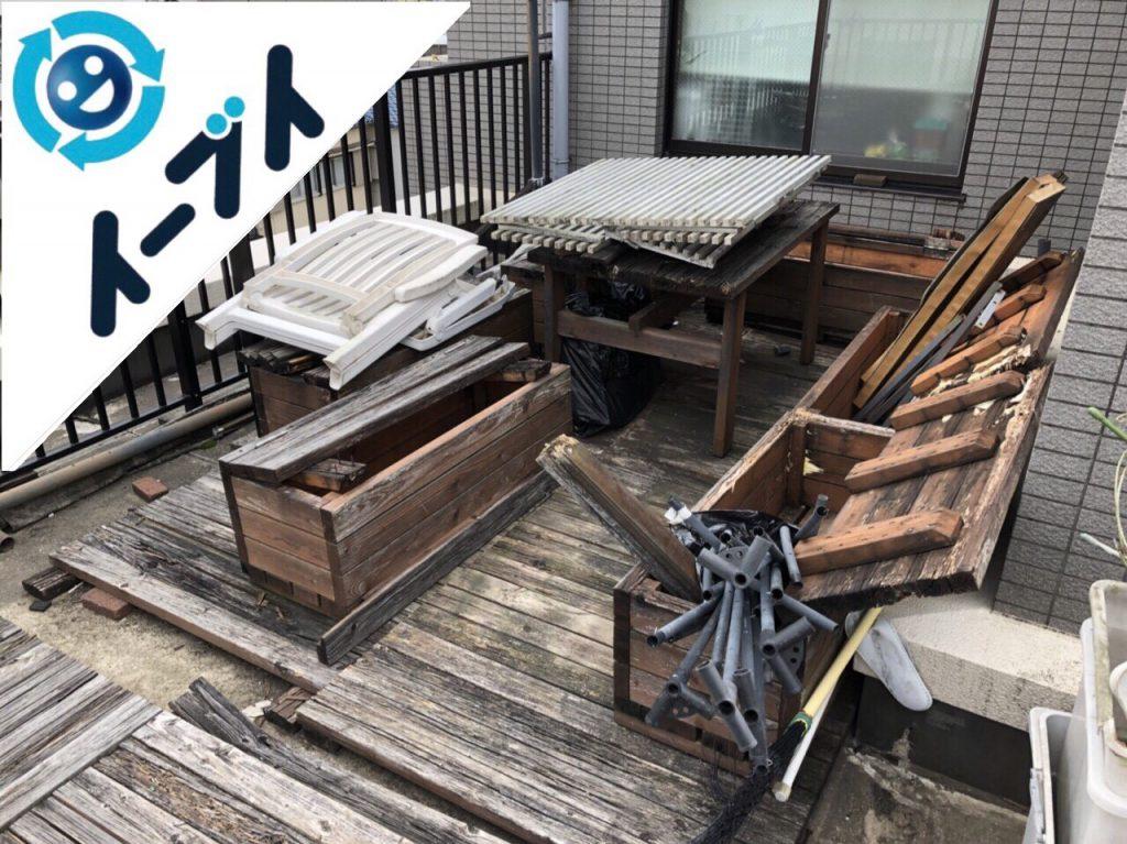 2018年6月6日【前編】大阪府吹田市でベランダのガーデニング用品の不用品回収写真4