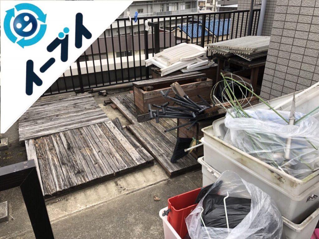 2018年6月6日【前編】大阪府吹田市でベランダのガーデニング用品の不用品回収写真2