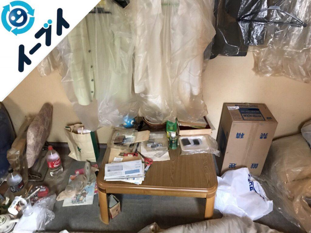 2018年6月16日大阪府交野市で長年放置された部屋の粗大ゴミなど不用品回収。写真4