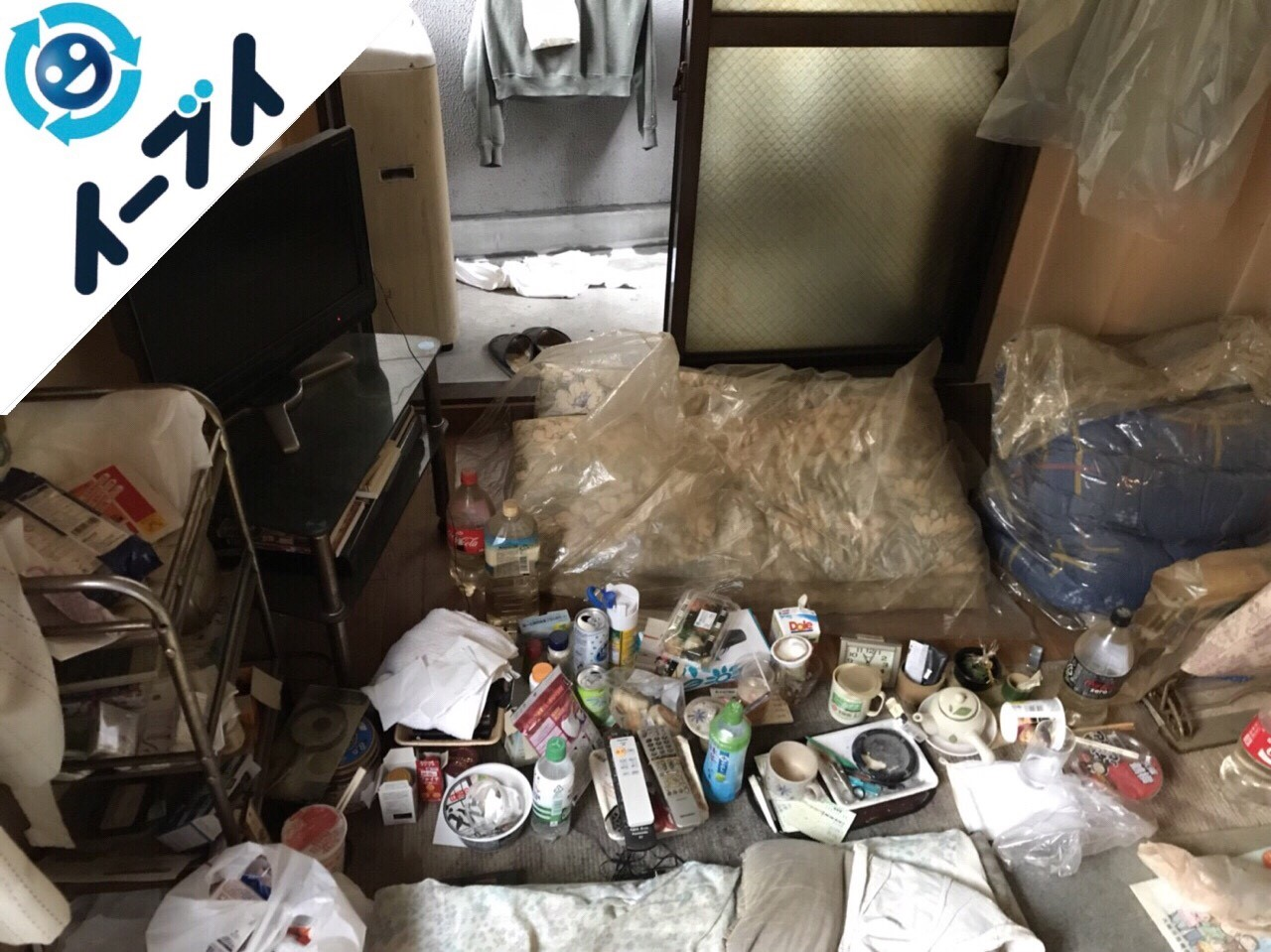 2018年6月16日大阪府交野市で長年放置された部屋の粗大ゴミなど不用品回収。写真2