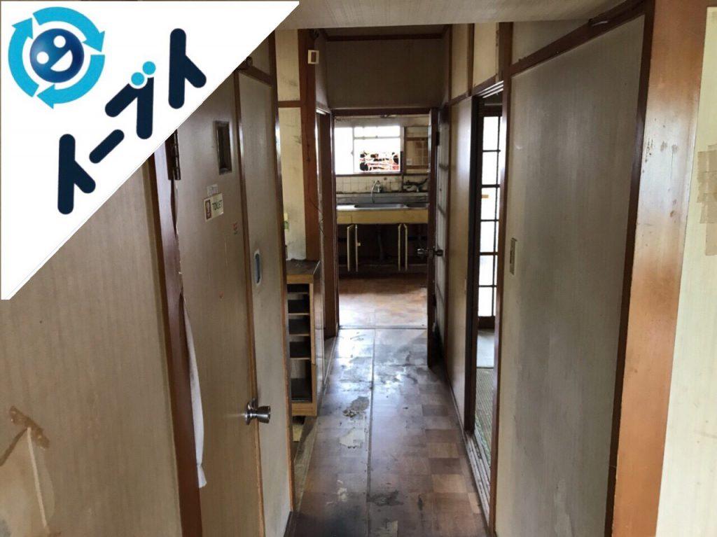 2018年8月6日大阪府大阪市西淀川区で生活用品で溢れたゴミ屋敷化した部屋の片付け。写真3