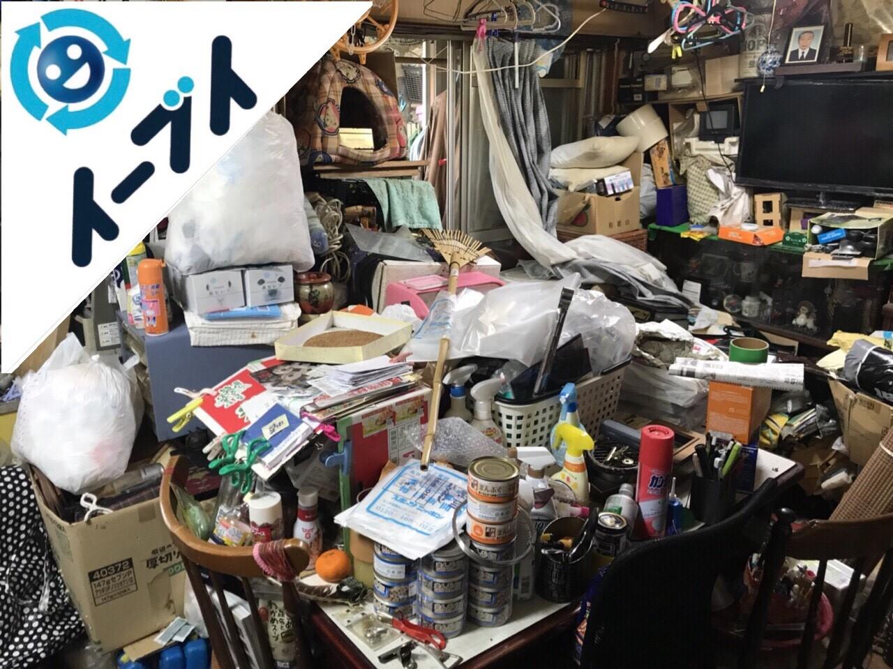 2018年8月24日大阪府大阪市平野区で10年間生活用品を溜められたゴミ屋敷の片付け。写真6