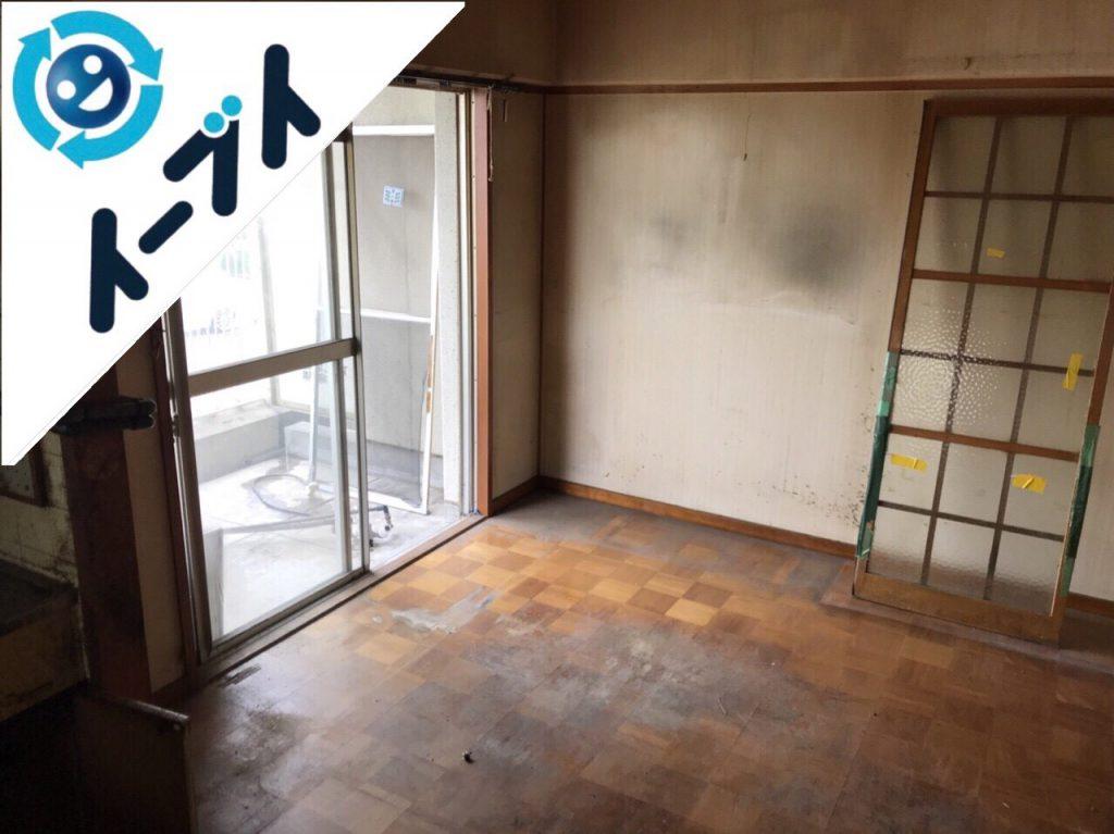 2018年8月24日大阪府大阪市平野区で10年間生活用品を溜められたゴミ屋敷の片付け。写真5