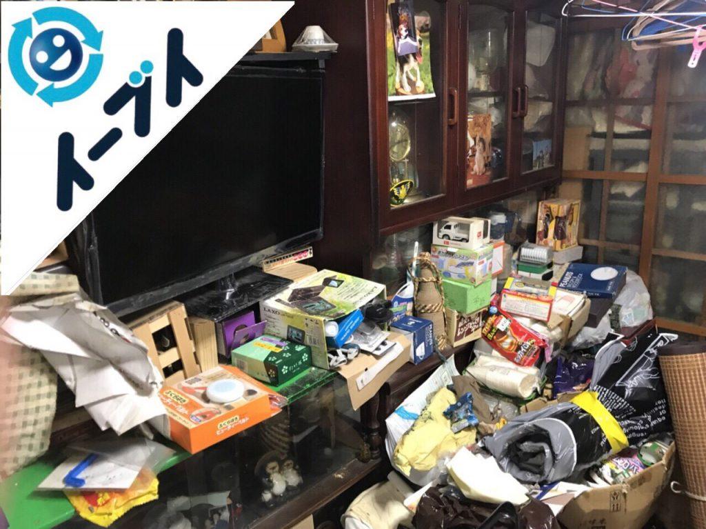 2018年8月24日大阪府大阪市平野区で10年間生活用品を溜められたゴミ屋敷の片付け。写真2