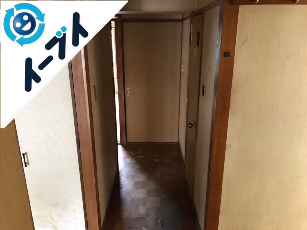 2018年8月18日大阪府大阪市東成区でゴミ屋敷の溜め込まれた生活用品の片付けをしました。写真1
