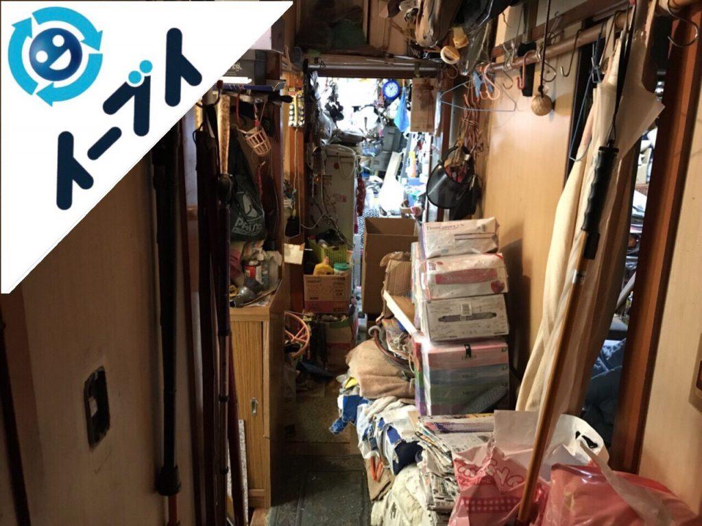 2018年8月6日大阪府大阪市西淀川区で生活用品で溢れたゴミ屋敷化した部屋の片付け。写真4