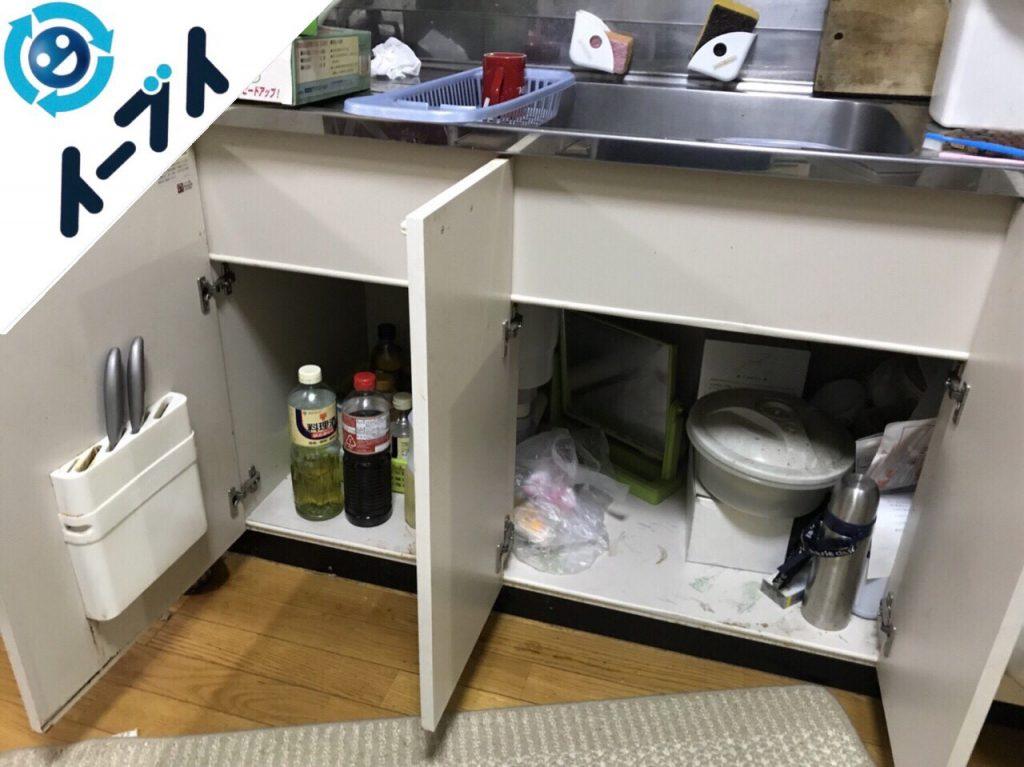 2018年7月9日大阪府東大阪市で台所のキッチン道具などの不用品を片付け処分をしました。写真3