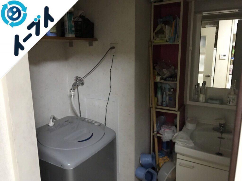 2018年8月23日大阪府大阪市福島区で洗濯機や和ダンスなど家具処分や粗大ゴミの処分。写真3