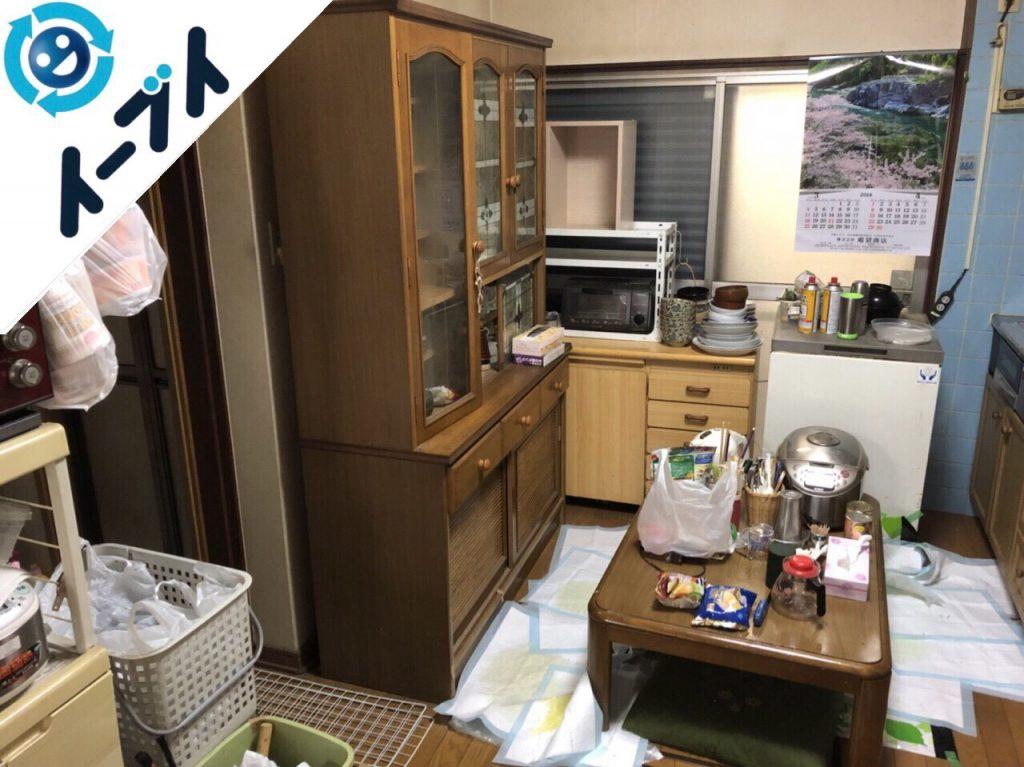 2018年7月4日大阪府八尾市で食器棚や押入れの不用品を片付け処分しました。写真4