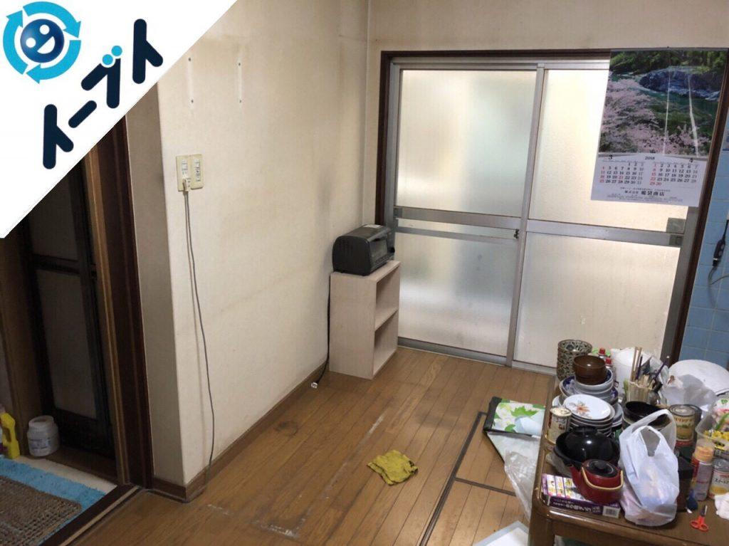 2018年7月4日大阪府八尾市で食器棚や押入れの不用品を片付け処分しました。写真3