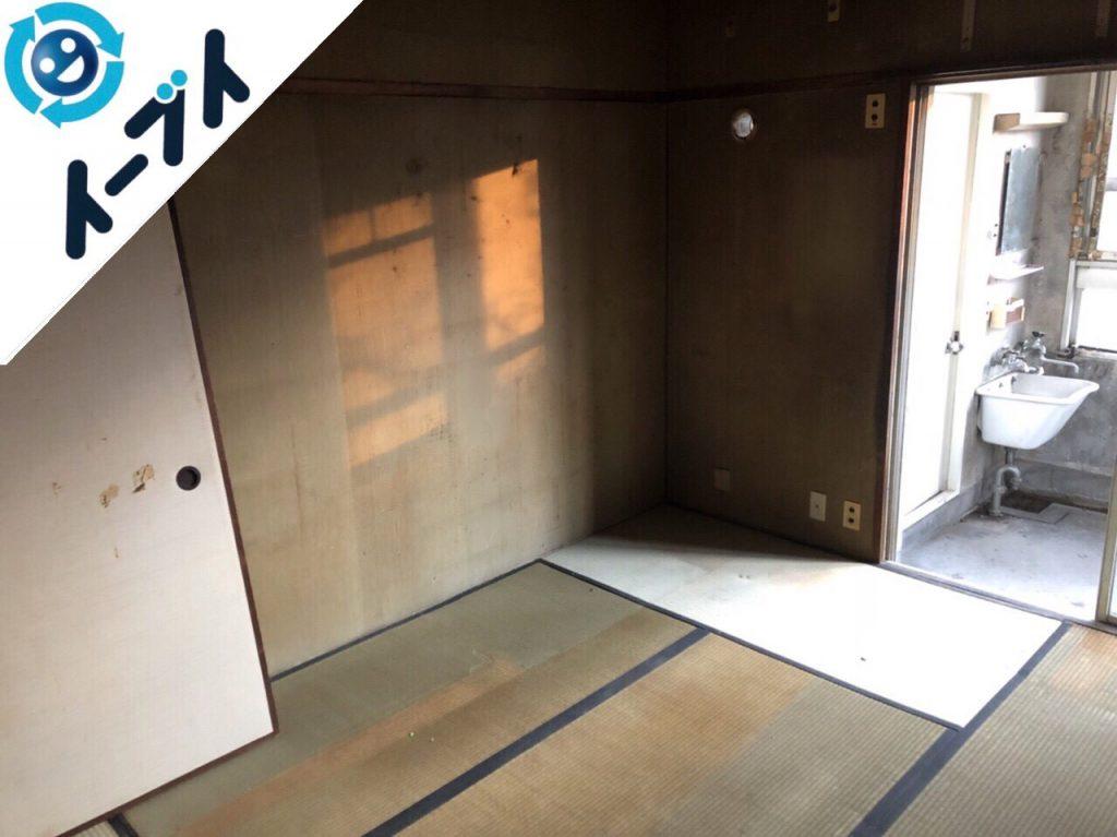 2018年8月27日大阪府大阪市北区で婚礼家具や和ダンスなど家具処分や粗大ゴミの片付け。写真1
