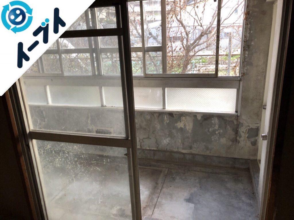 2018年7月12日大阪府八尾市でベランダの風呂の撤去や不用品の片付け処分の依頼を頂きました。写真5