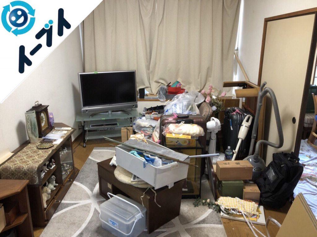 2018年7月27日大阪府大阪市住吉区でスーツケースや細かな粗大ゴミや家具処分をしました。写真1
