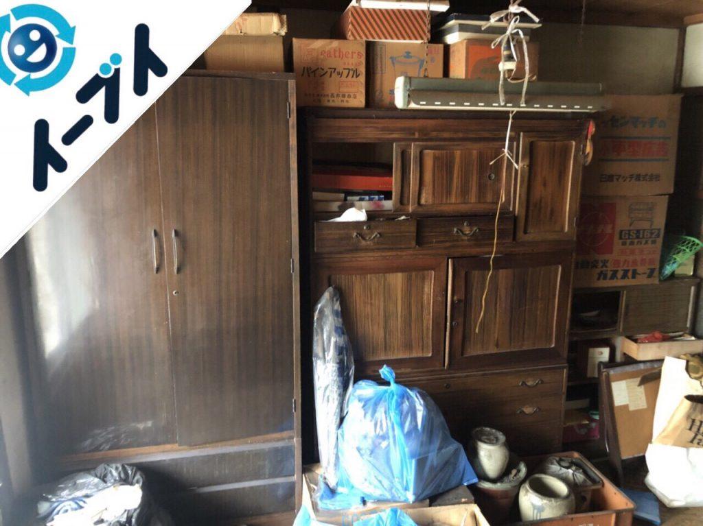 2018年7月16日大阪府大阪市阿倍野区で空き家の家財道具や粗大ゴミなど残置物の処分。写真4