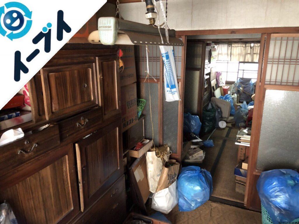2018年7月16日大阪府大阪市阿倍野区で空き家の家財道具や粗大ゴミなど残置物の処分。写真2