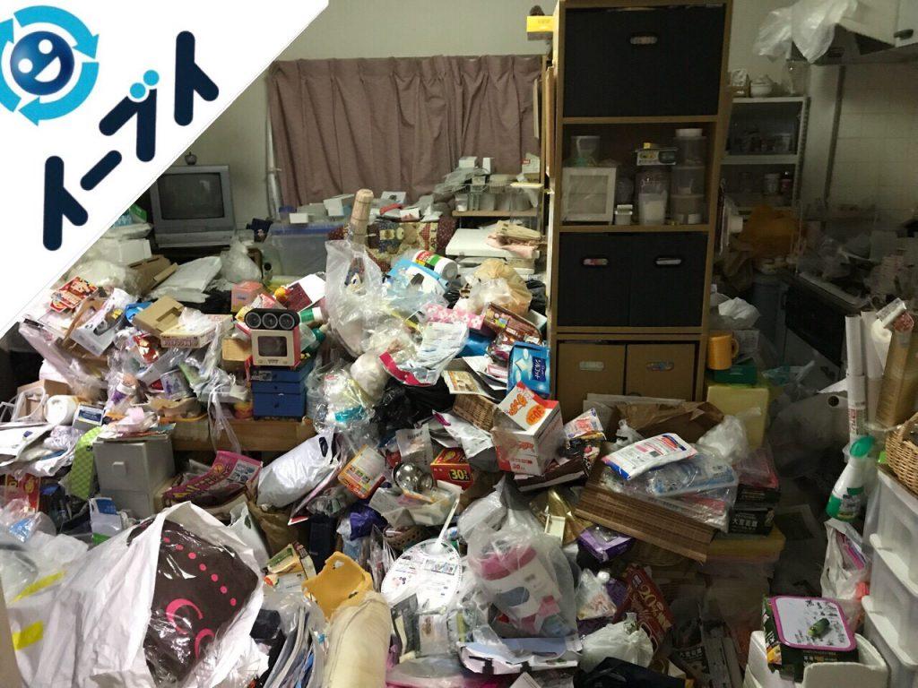 2018年7月31日大阪府大阪市城東区で10年間溜め込まれたゴミ屋敷の片付け作業。写真6