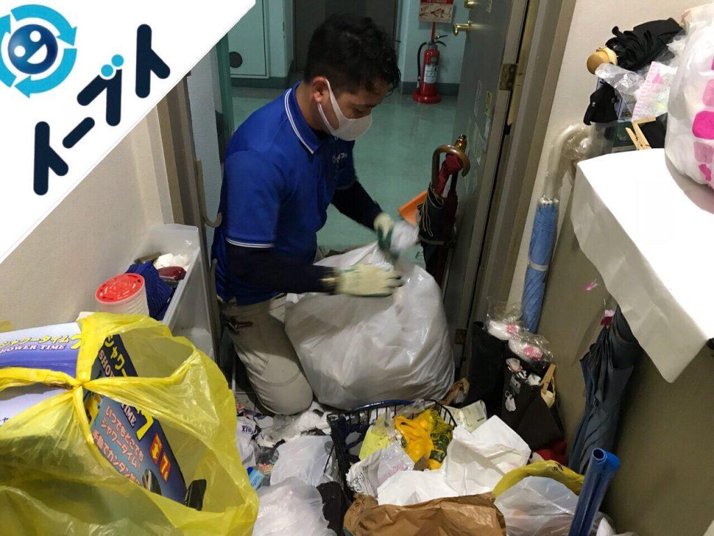 2018年7月31日大阪府大阪市城東区で10年間溜め込まれたゴミ屋敷の片付け作業。写真5