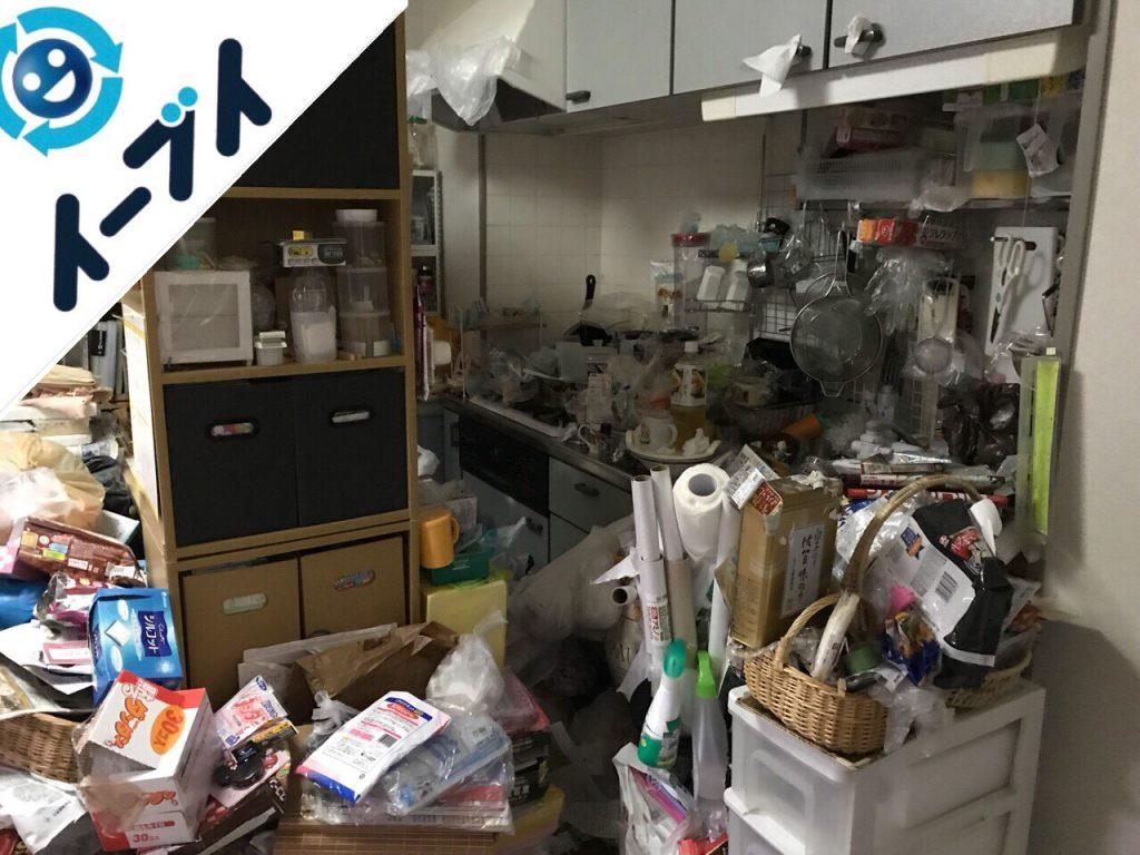 2018年7月31日大阪府大阪市城東区で10年間溜め込まれたゴミ屋敷の片付け作業。写真4