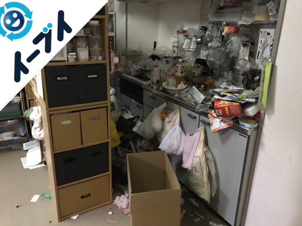 2018年7月31日大阪府大阪市城東区で10年間溜め込まれたゴミ屋敷の片付け作業。写真3