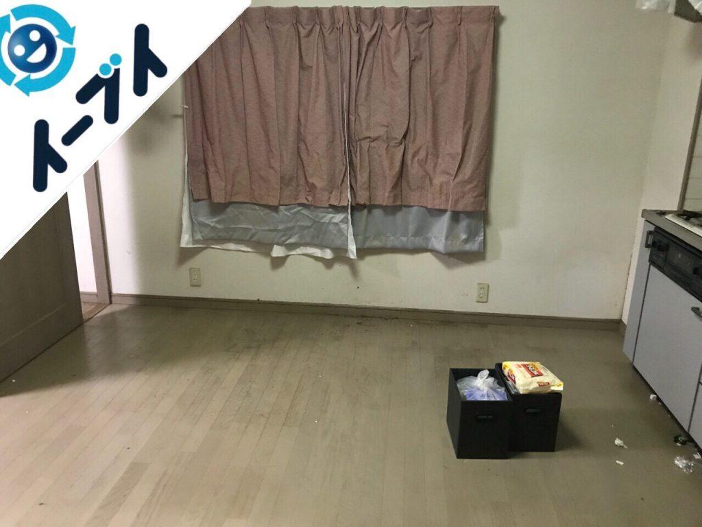 2018年7月31日大阪府大阪市城東区で10年間溜め込まれたゴミ屋敷の片付け作業。写真2