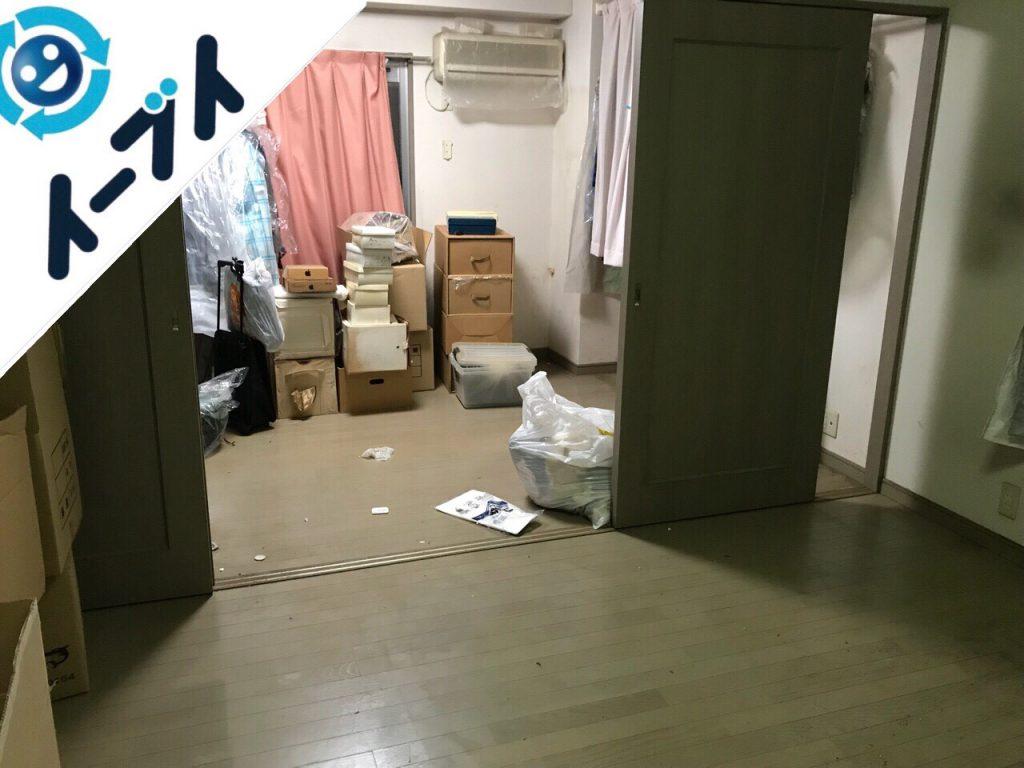 2018年7月31日大阪府大阪市城東区で10年間溜め込まれたゴミ屋敷の片付け作業。写真1