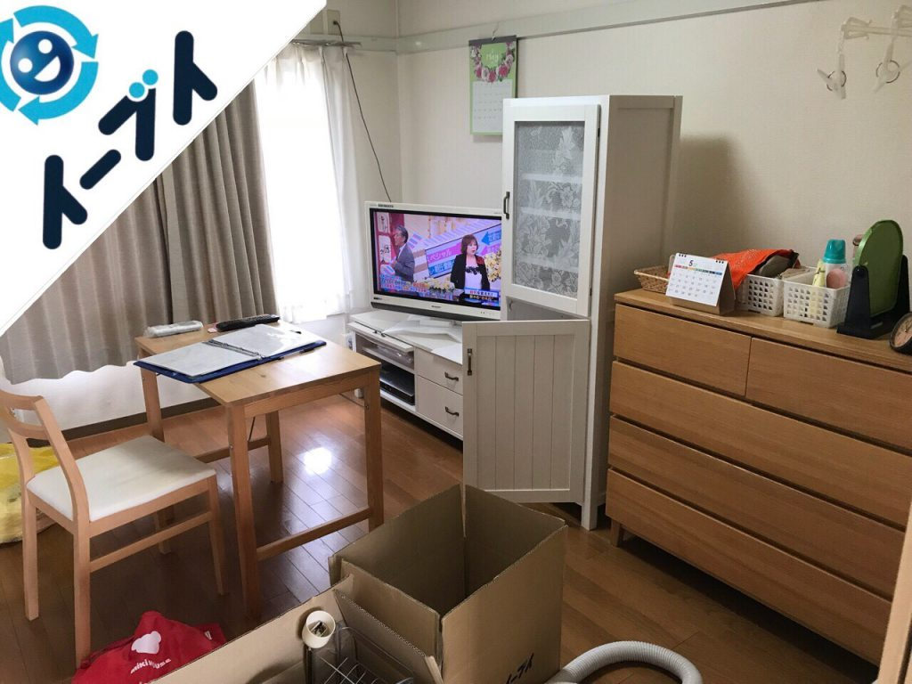 2018年8月3日大阪府大阪市西区でサイドボードなど家具処分に伴い粗大ゴミの不用品回収。写真4