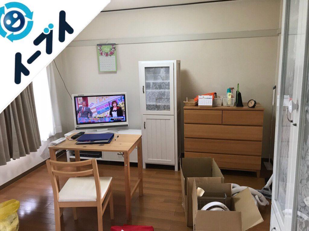2018年8月3日大阪府大阪市西区でサイドボードなど家具処分に伴い粗大ゴミの不用品回収。写真2