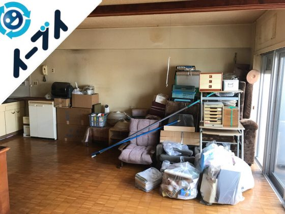2018年7月19日大阪府大阪市旭区でマンション売却のため家具や残置物の不用品回収をしました。写真4