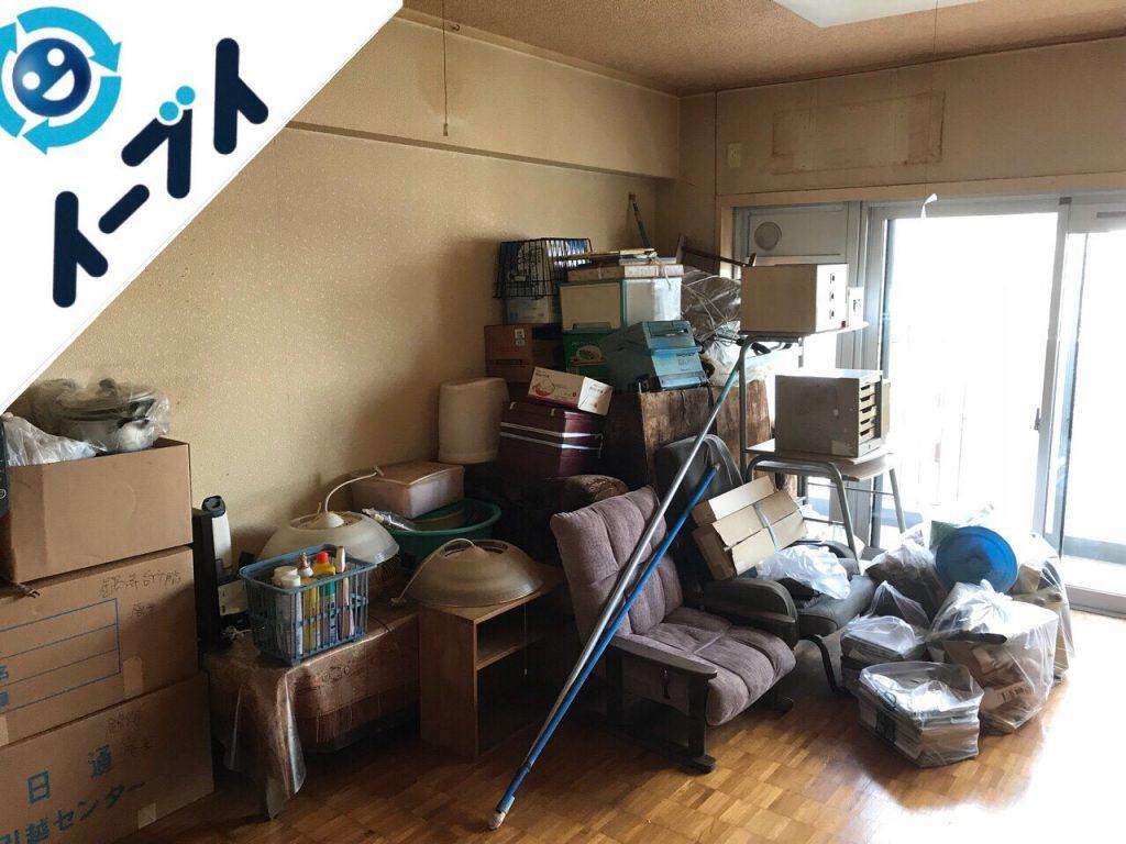 2018年7月19日大阪府大阪市旭区でマンション売却のため家具や残置物の不用品回収をしました。写真2