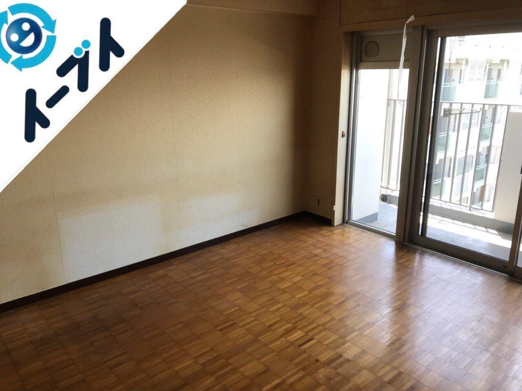 2018年7月19日大阪府大阪市旭区でマンション売却のため家具や残置物の不用品回収をしました。写真1