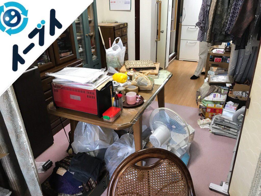 2018年8月2日大阪府大阪市生野区で介護施設に荷物の運搬と粗大ゴミの不用品回収。写真3