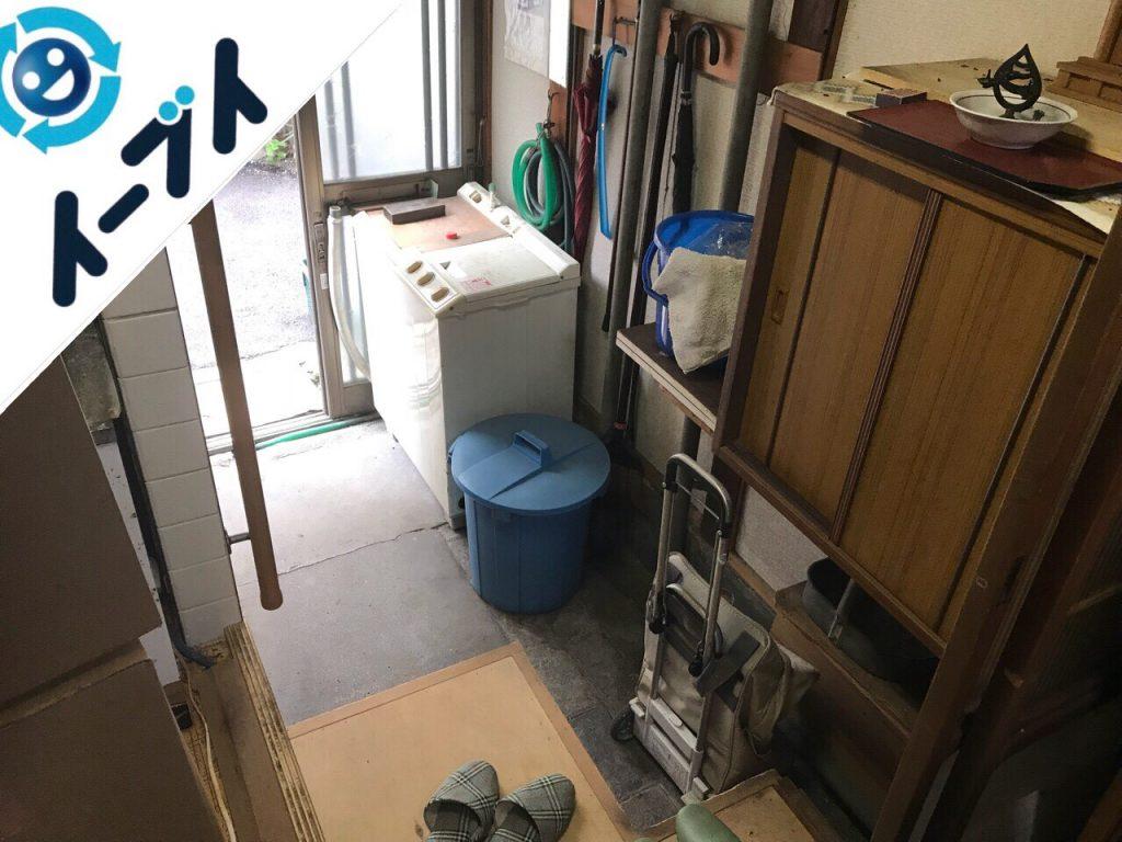 2018年8月5日大阪府大阪市西成区で座椅子や洗濯機や下駄箱など粗大ゴミの片付けと処分。写真2