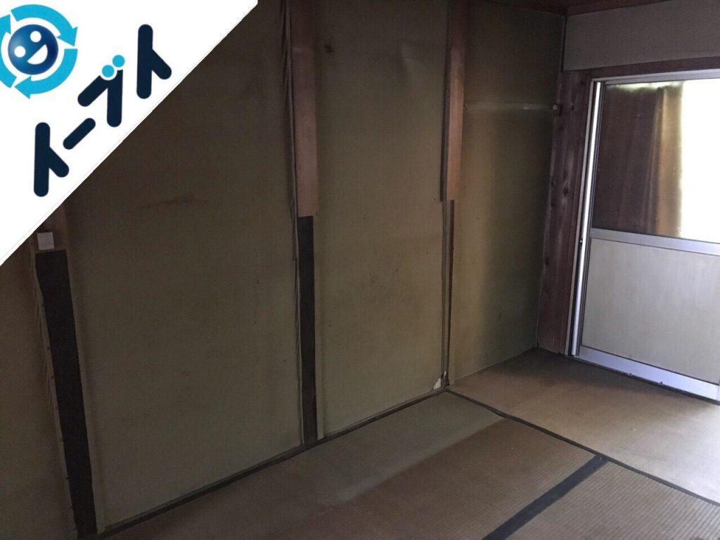2018年8月12日大阪府大阪市鶴見区で仏壇(合同供養)と婚礼家具の不用品回収をしました。写真1