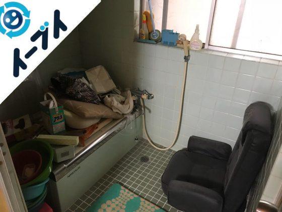 2018年8月5日大阪府大阪市西成区で座椅子や洗濯機や下駄箱など粗大ゴミの片付けと処分。写真4