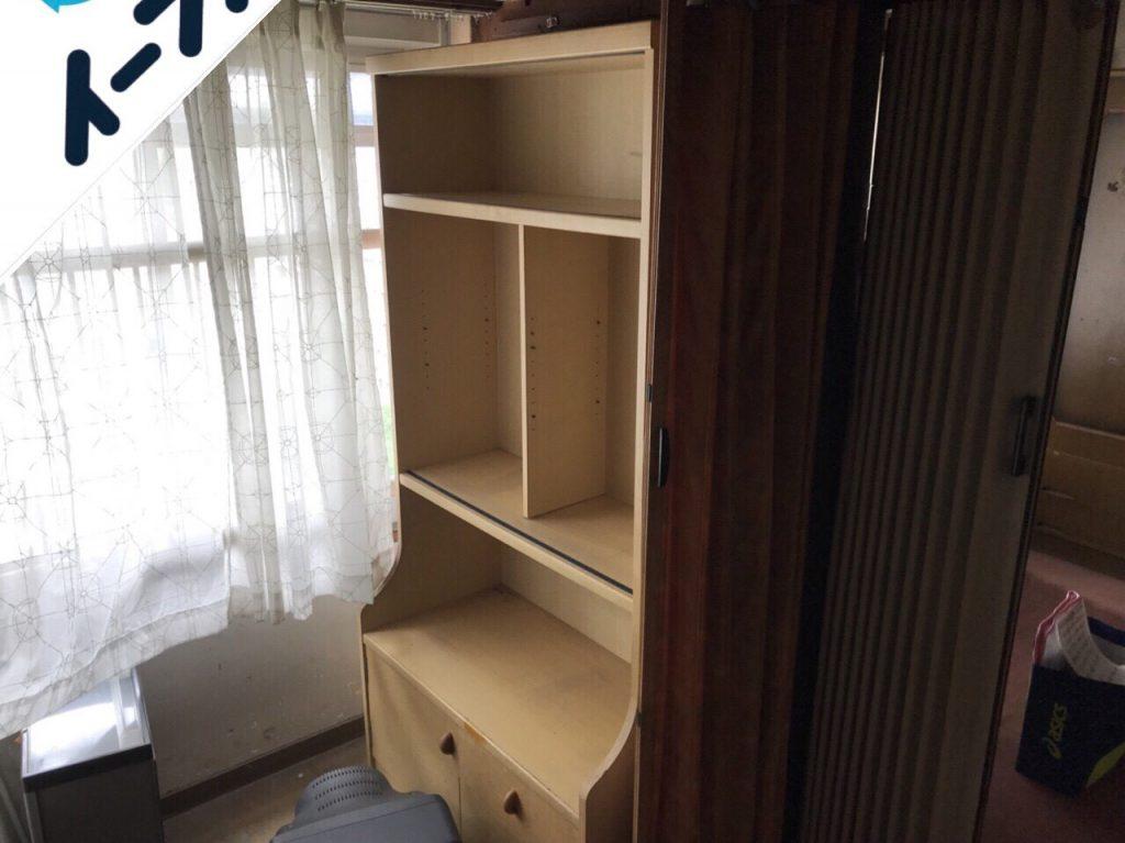 2018年7月22日大阪府堺市東区で本棚や衣装ケースなど家具処分や不用品回収をしました。写真2