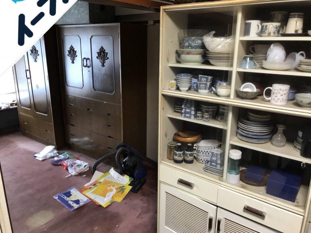 2018年8月17日大阪府大阪市東住吉区で婚礼家具や液晶テレビなど粗大ゴミの不用品回収をしました。写真4