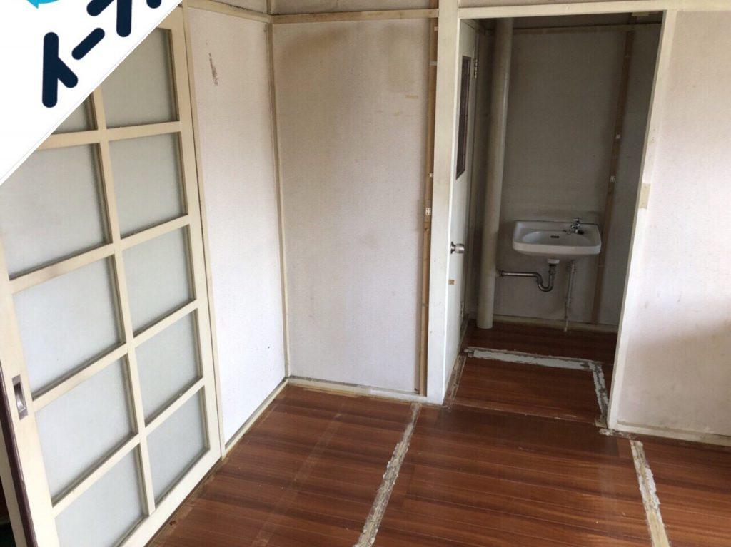 2018年8月20日大阪府堺市南区で食器棚やカラーボックスの家具処分や食器類の不用品回収をしました。写真3