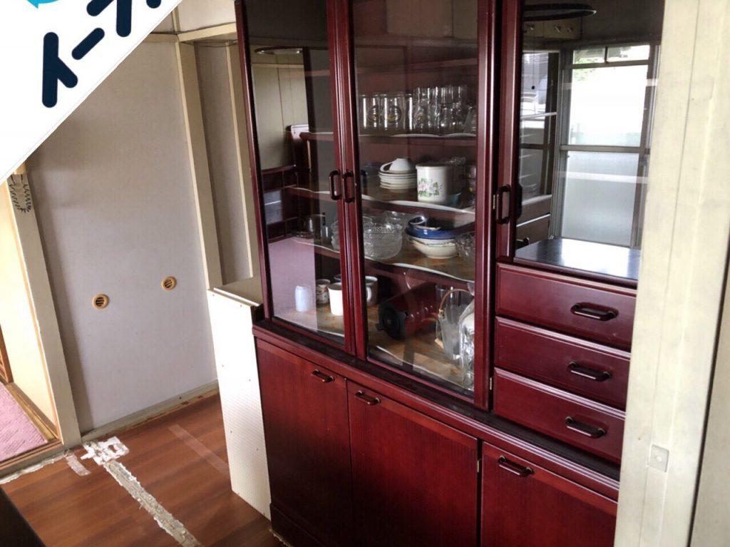 2018年8月20日大阪府堺市南区で食器棚やカラーボックスの家具処分や食器類の不用品回収をしました。写真2