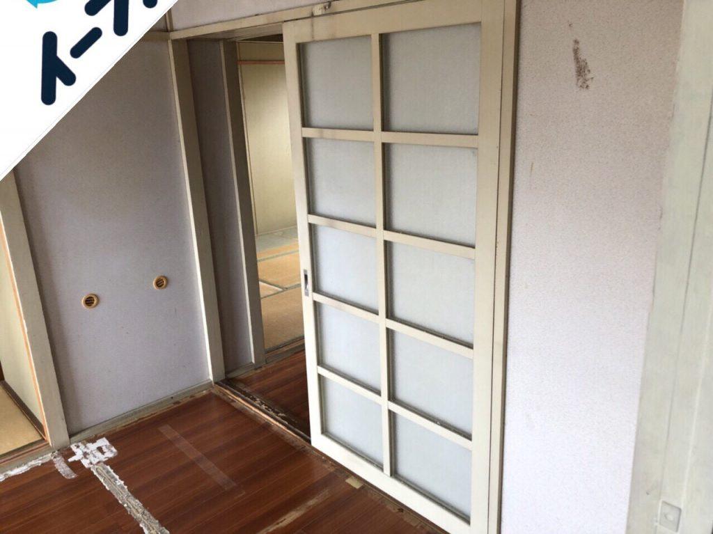 2018年8月20日大阪府堺市南区で食器棚やカラーボックスの家具処分や食器類の不用品回収をしました。写真1