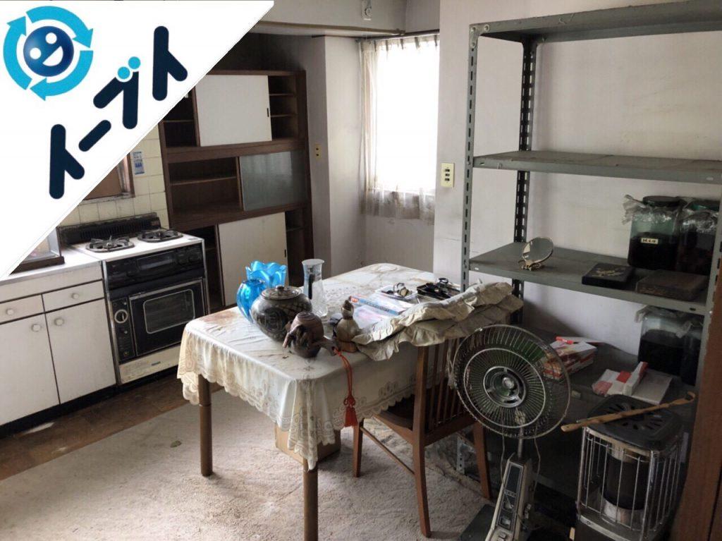 2018年8月15日大阪府大阪市都島区でテーブルの処分や扇風機など粗大ゴミの不用品回収の依頼。写真4