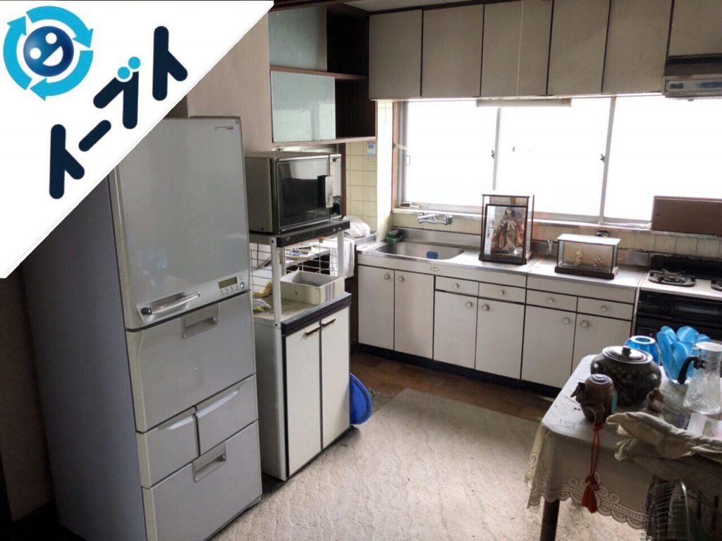 2018年8月15日大阪府大阪市都島区でテーブルの処分や扇風機など粗大ゴミの不用品回収の依頼。写真2