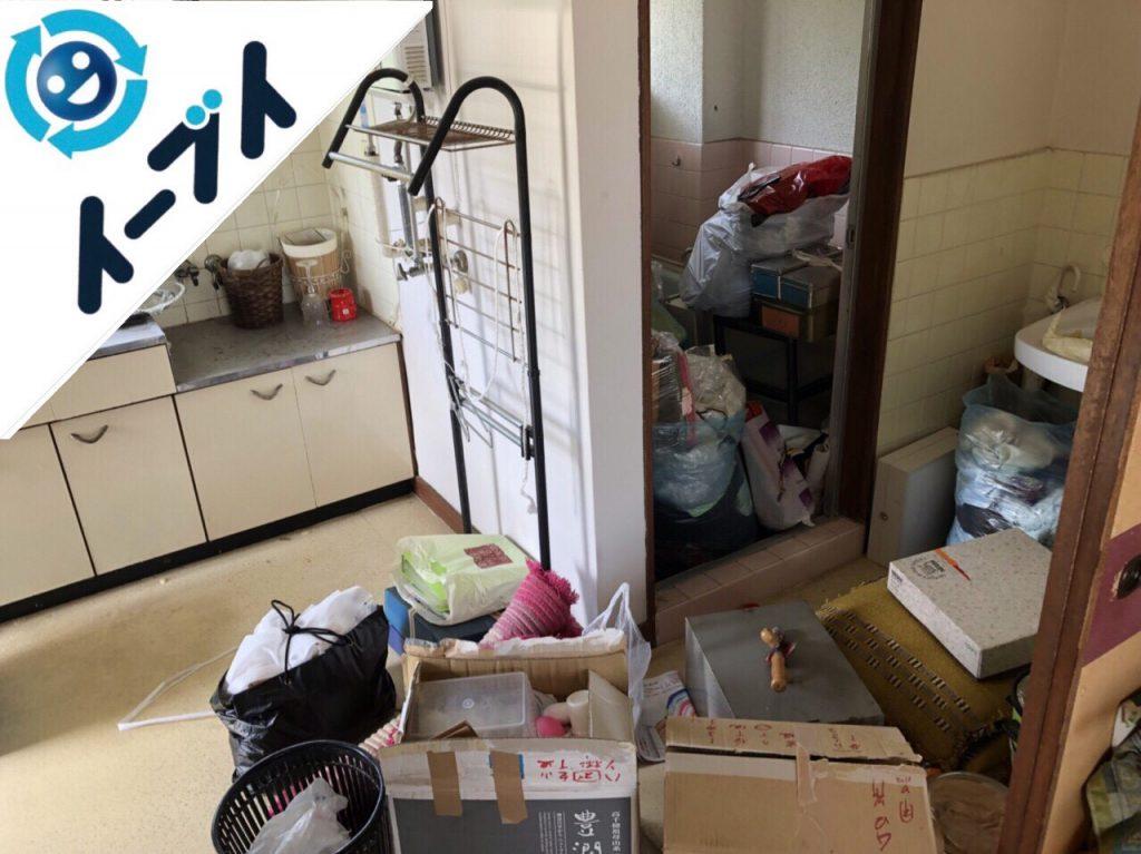 2018年7月25日大阪府大阪市港区で引越しゴミや雑ゴミや粗大ゴミの不用品回収をしました。写真2