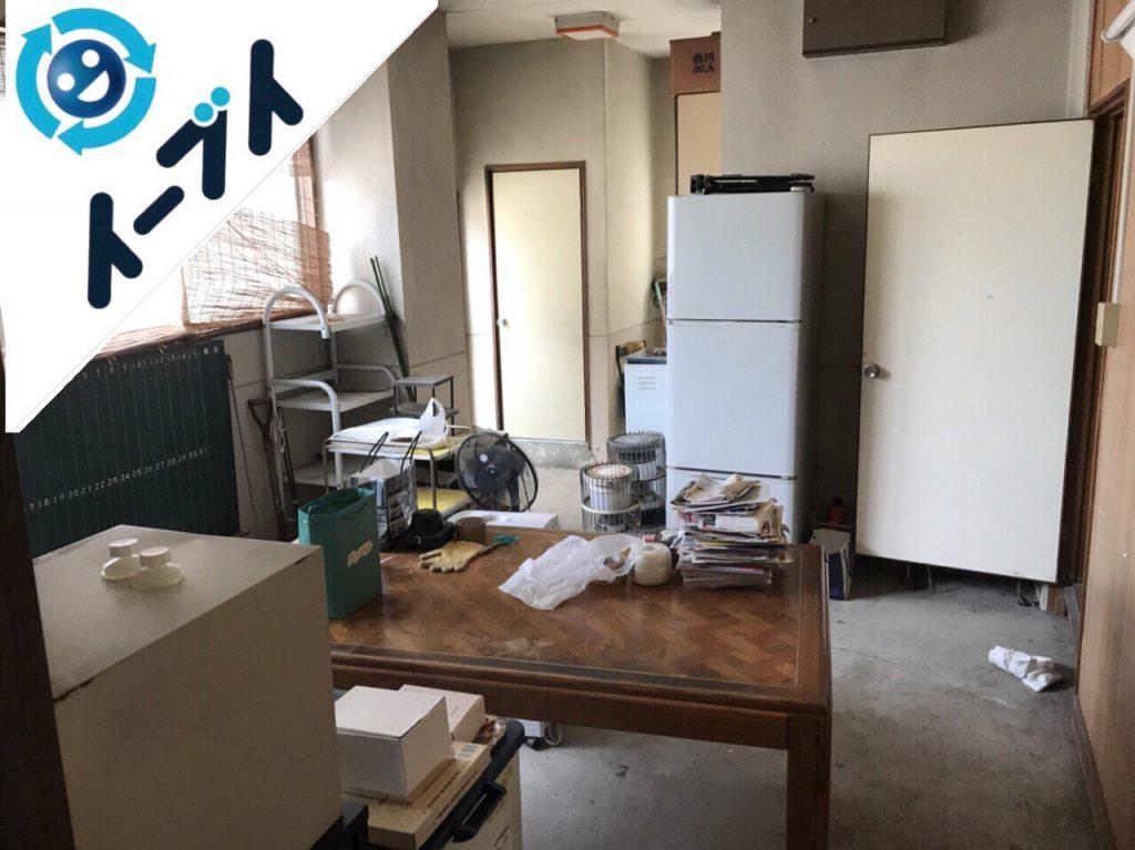 2018年8月11日大阪府大阪市中央区で店舗のローテーブルや黒板など細かな粗大ゴミの不用品回収をしました。写真2